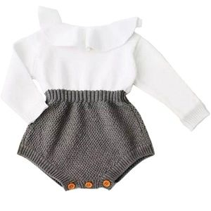 Other - New Baby Girls Knitted Ruffle Jumpsuit